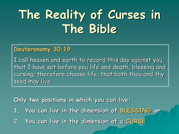 The Reality of Curses in The Bible