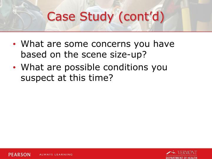 Case Study (cont'd)