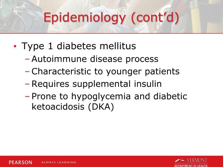 Epidemiology (cont'd)