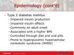 epidemiology cont d1