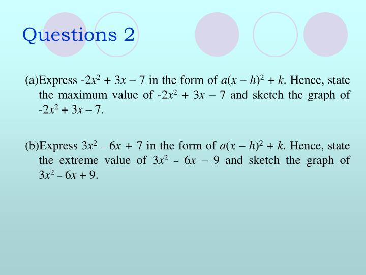 Questions 2