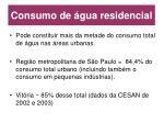 consumo de gua residencial
