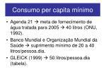 consumo per capita m nimo