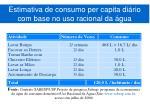 estimativa de consumo per capita di rio com base no uso racional da gua