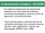 o saneamento ecol gico ecosan