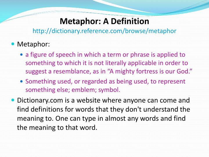 Metaphor: A Definition