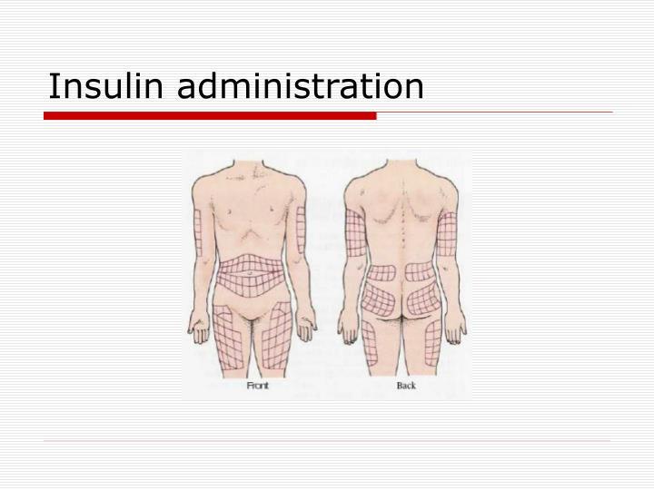 Insulin administration