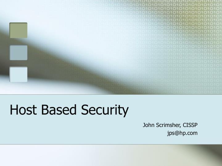 Host based security