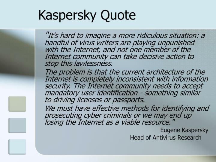 Kaspersky Quote