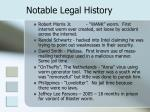 notable legal history