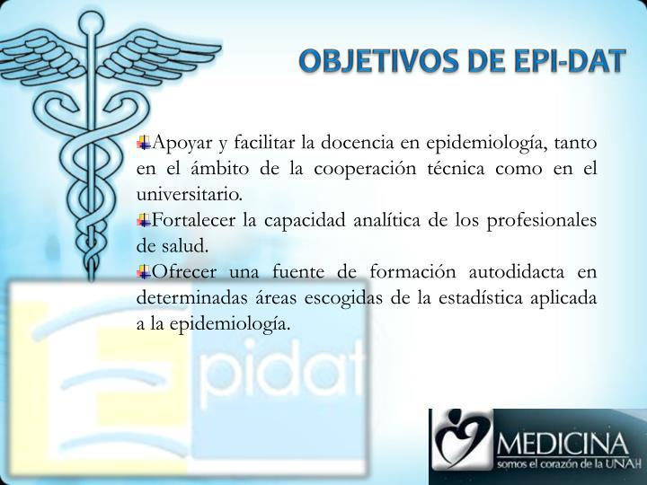 OBJETIVOS DE EPI-DAT
