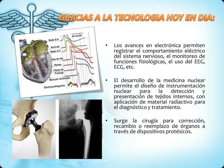 GRACIAS A LA TECNOLOGIA HOY EN DIA: