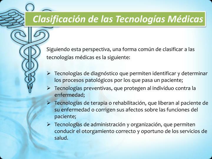 Clasificación de las Tecnologías Médicas