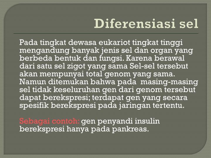 Diferensiasi sel