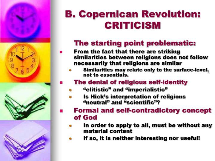 B. Copernican Revolution:
