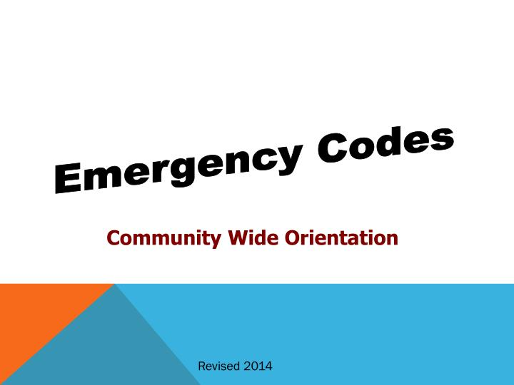 Emergency Codes