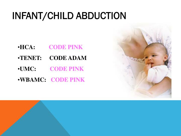 INFANT/CHILD ABDUCTION