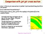 comparison with jet jet cross section