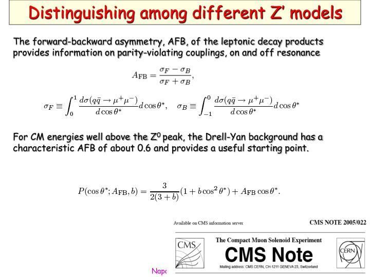 Distinguishing among different Z' models