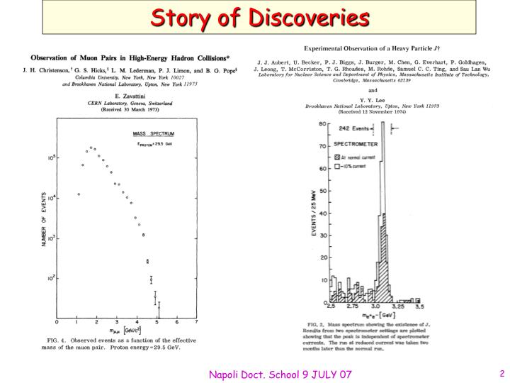 Story of discoveries