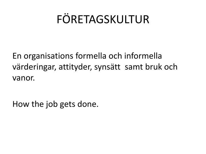 FÖRETAGSKULTUR