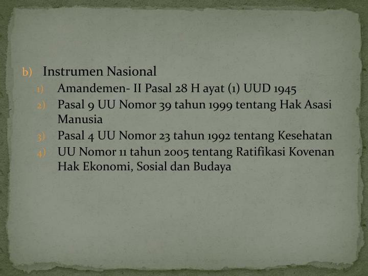 Instrumen Nasional