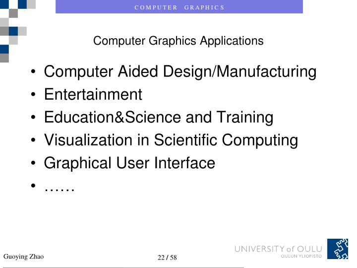 Computer Graphics Applications