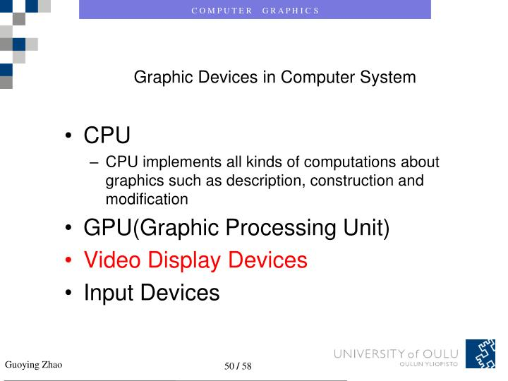 Graphic Devices in Computer System