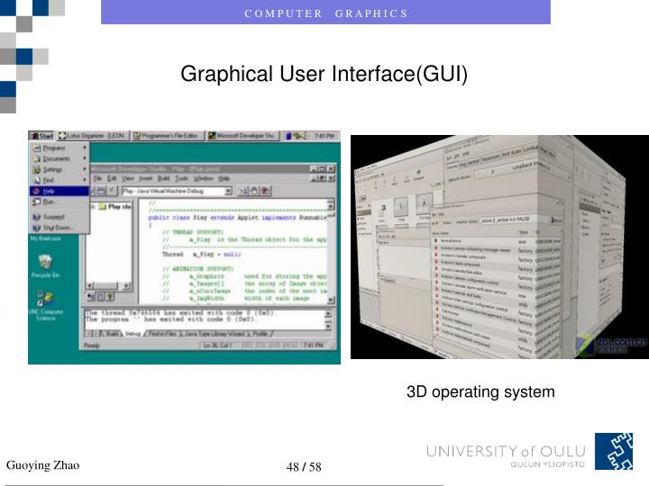 Graphical User Interface(GUI)