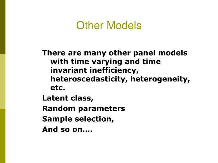 Other Models