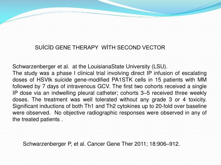 SUİCİD GENE THERAPY  WİTH SECOND VECTOR