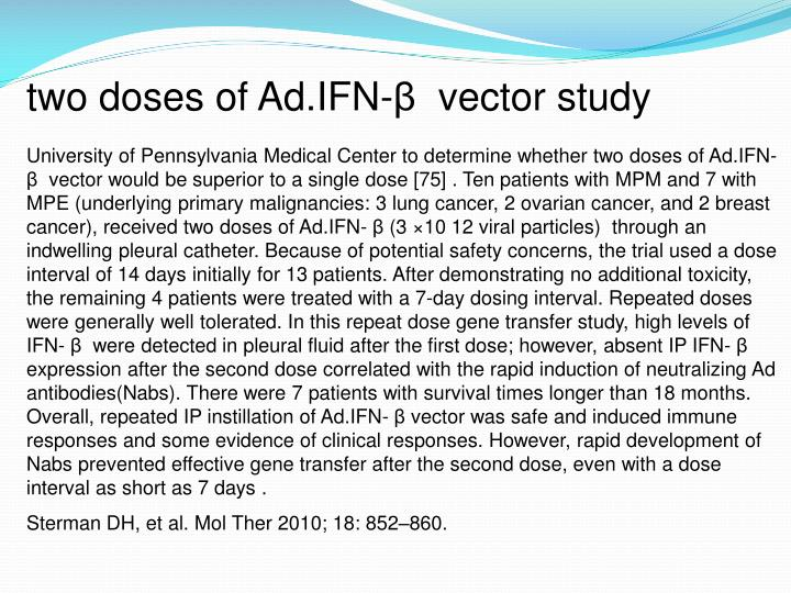 two doses of Ad.IFN-