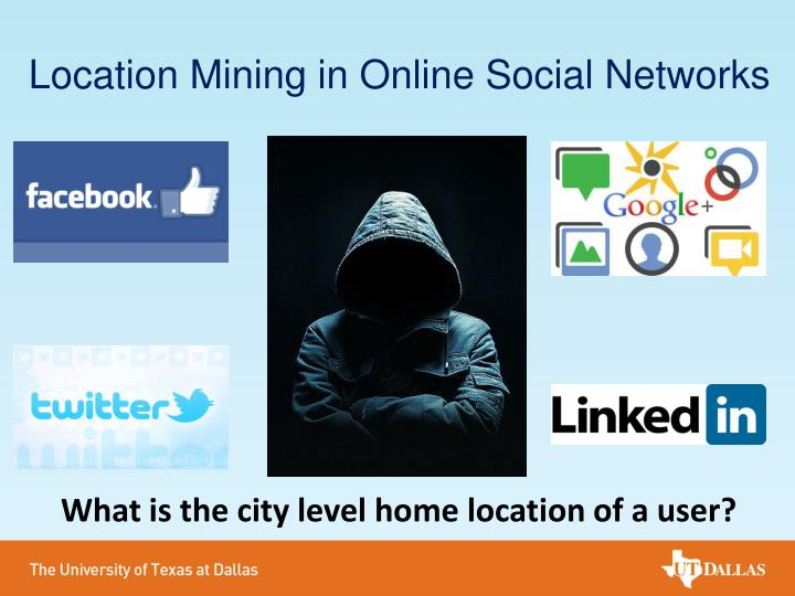 Location mining in online social networks