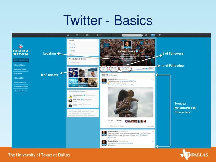 Twitter - Basics