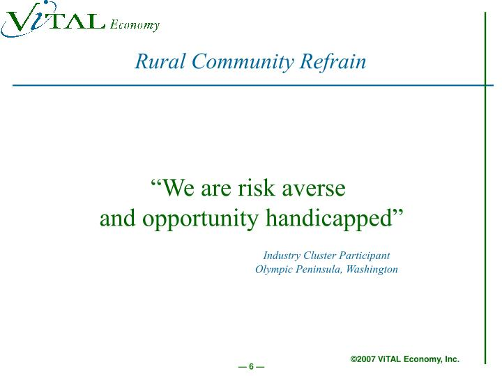Rural Community Refrain