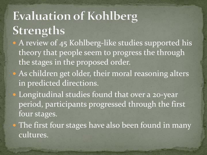 Evaluation of Kohlberg
