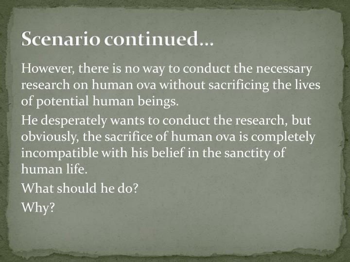 Scenario continued…