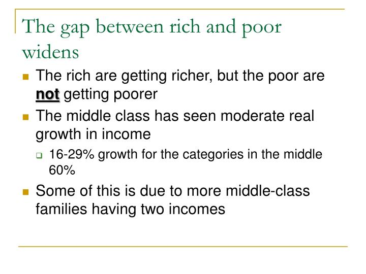 The gap between rich and poor widens