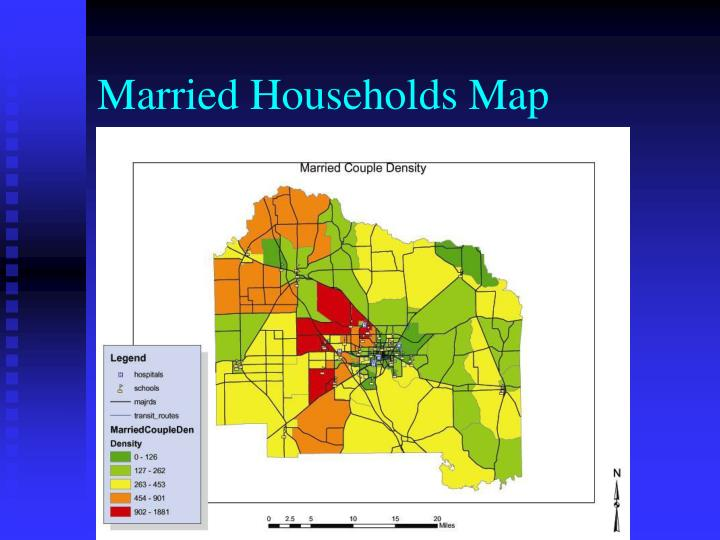 Married Households Map