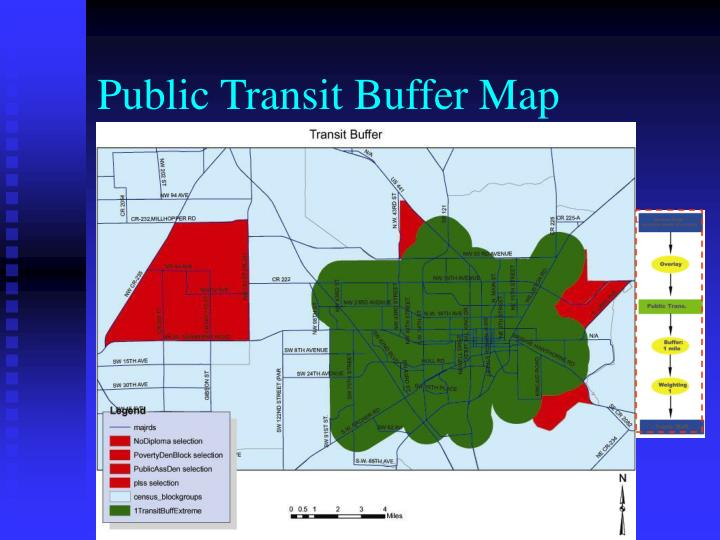 Public Transit Buffer Map
