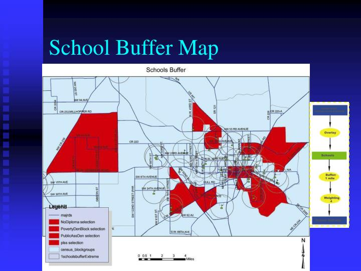 School Buffer Map