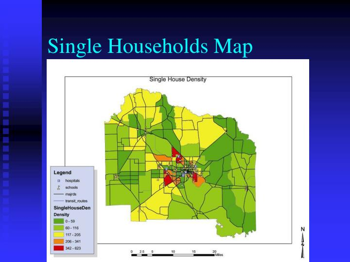 Single Households Map