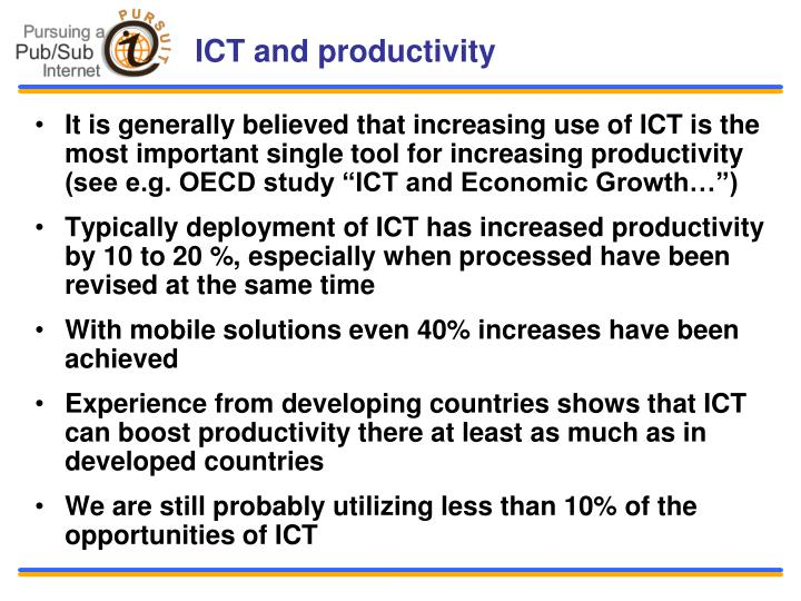 ICT and productivity