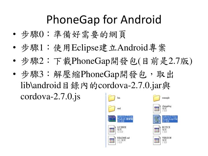 PhoneGap for Android