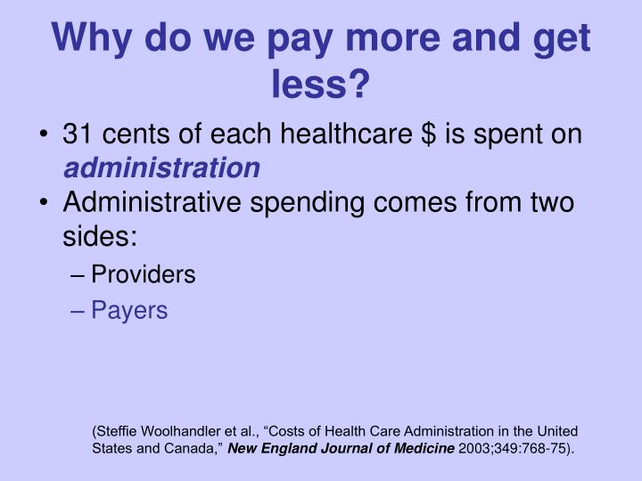 Why do we pay more and get less?