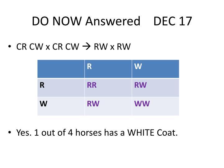 DO NOW Answered    DEC 17