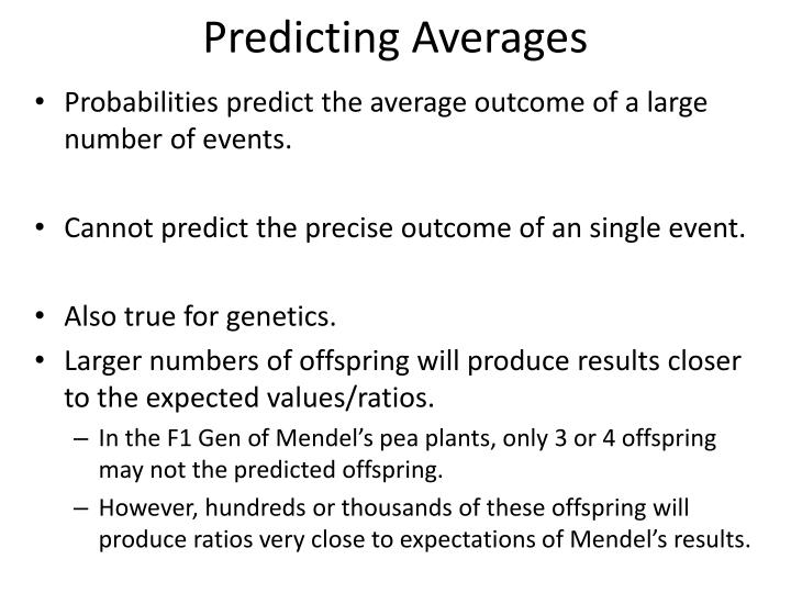 Predicting Averages