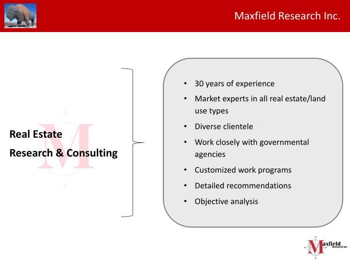 Maxfield Research Inc.
