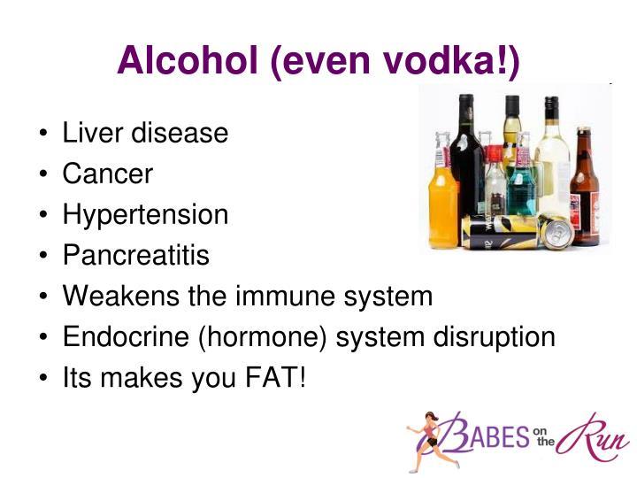 Alcohol (even vodka!)