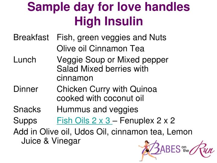 Sample day for love handles